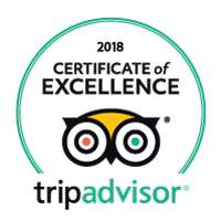 2018 Trip Advisor Certificate of Excellence badge