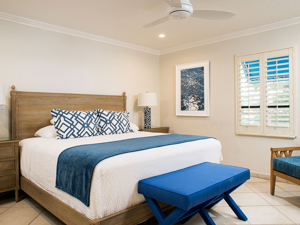 Photo of one of the rooms at our beach house.