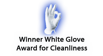 Winner White Glove Award for Cleanliness logo