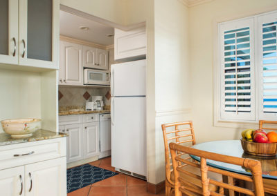 Photo of one of our rooms displaying the kitchen.